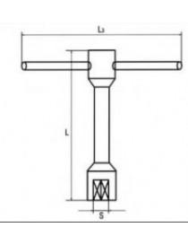 TORRETA LLAVE   8 MM. Nº-4810-8