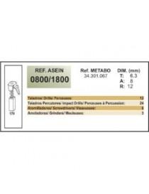 ESCOBILLA METABO B-650/2S Y SBB1015 R+L REFº-1800